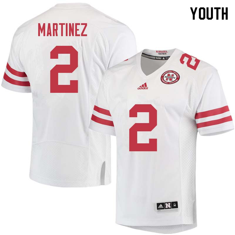 Youth #2 Adrian Martinez Nebraska Cornhuskers College Football Jerseys Sale-White