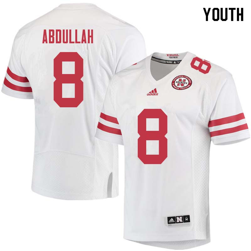 Youth #8 Ameer Abdullah Nebraska Cornhuskers College Football Jerseys Sale-White