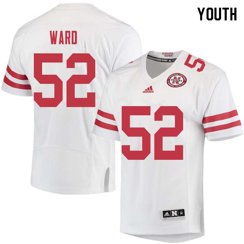 Youth #52 Andrew Ward Nebraska Cornhuskers College Football Jerseys Sale-White