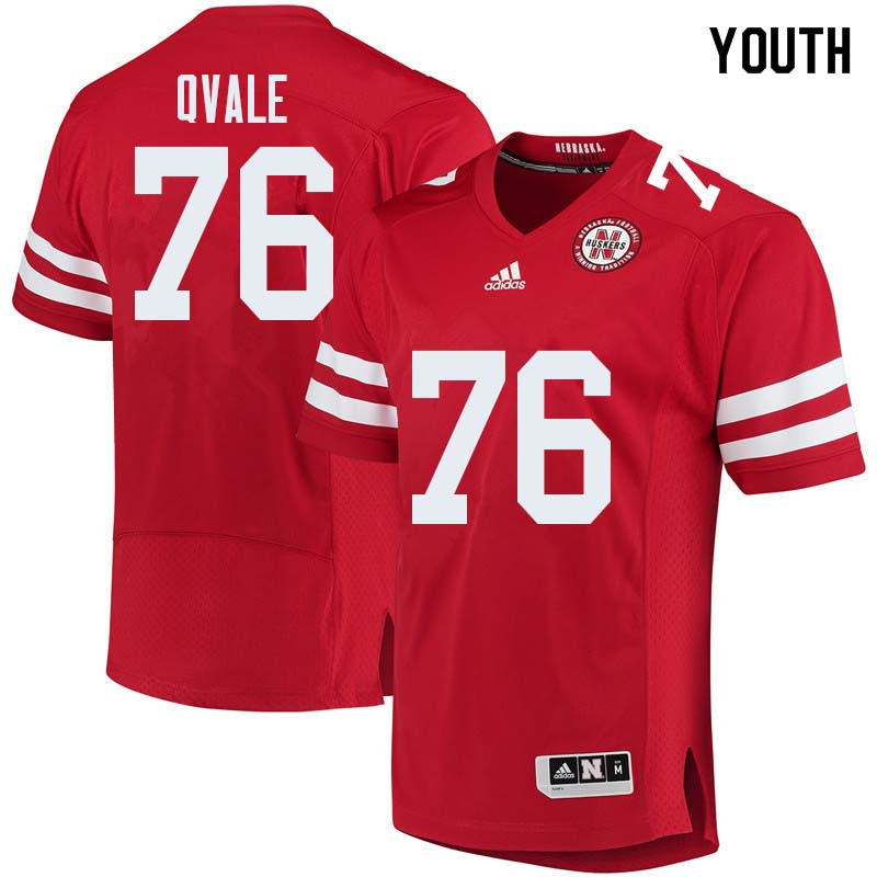 Youth #76 Brent Qvale Nebraska Cornhuskers College Football Jerseys Sale-Red
