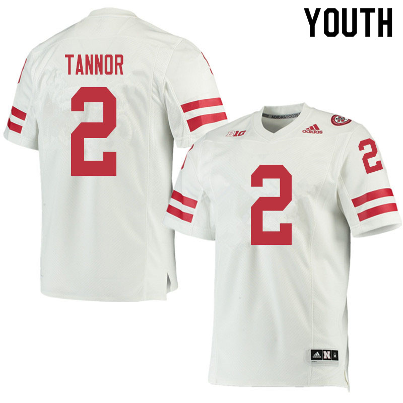 Youth #2 Caleb Tannor Nebraska Cornhuskers College Football Jerseys Sale-White