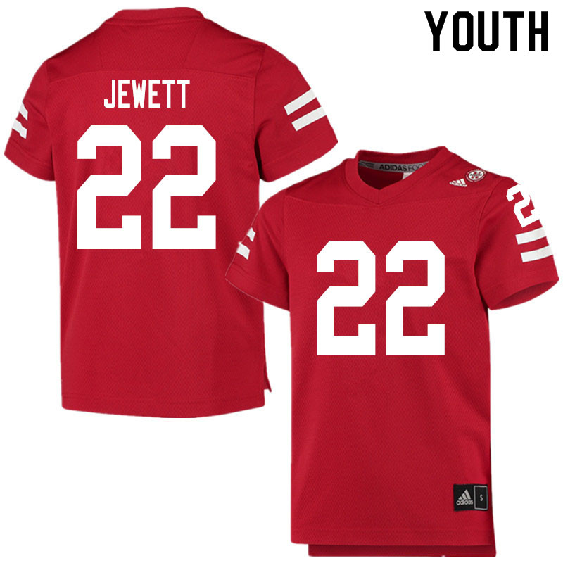 Youth #22 Cooper Jewett Nebraska Cornhuskers College Football Jerseys Sale-Scarlet