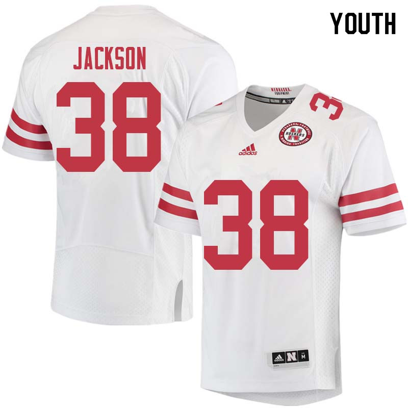 Youth #38 Damian Jackson Nebraska Cornhuskers College Football Jerseys Sale-White