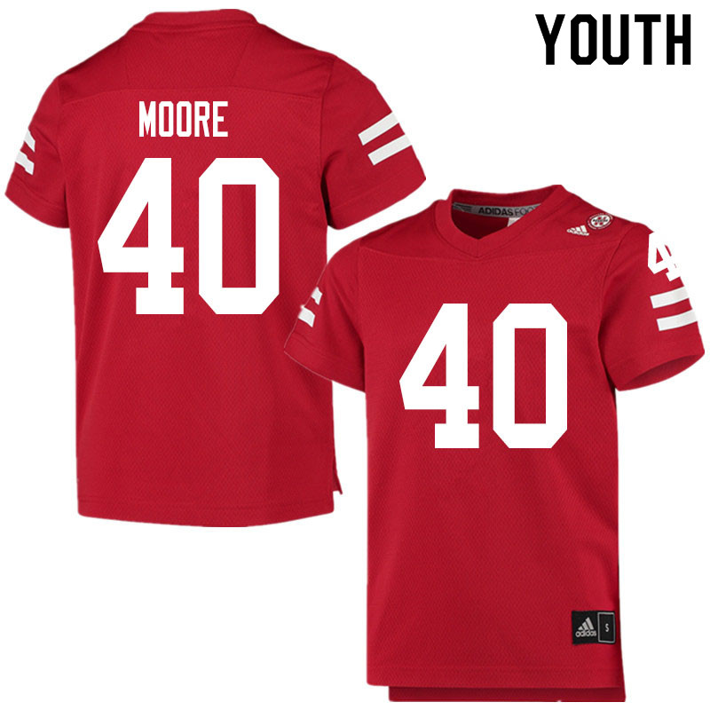 Youth #40 Darius Moore Nebraska Cornhuskers College Football Jerseys Sale-Scarlet