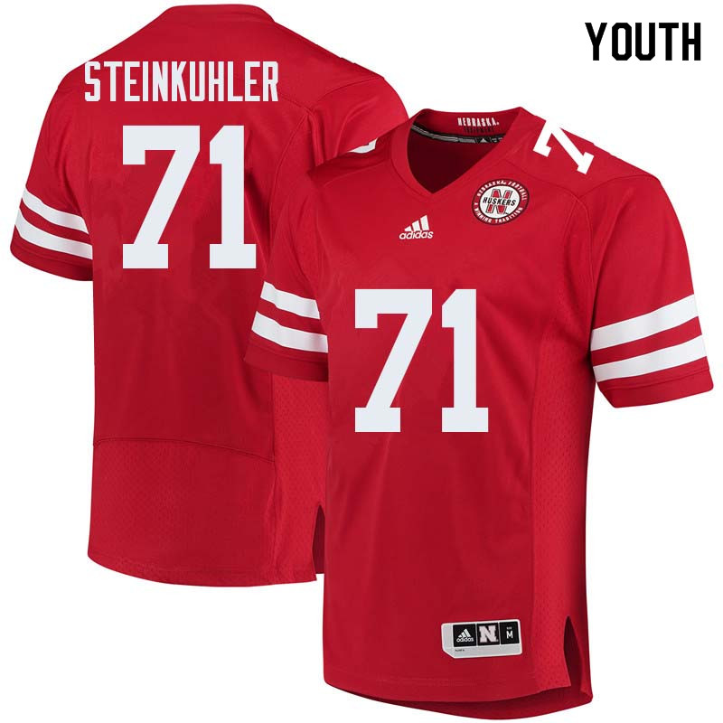 Youth #71 Dean Steinkuhler Nebraska Cornhuskers College Football Jerseys Sale-Red