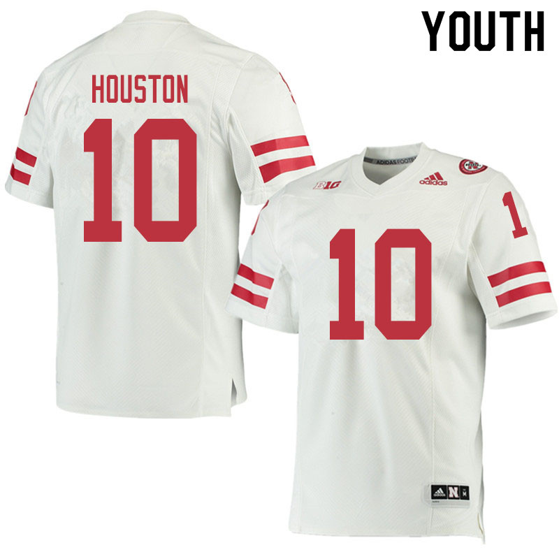 Youth #10 Demariyon Houston Nebraska Cornhuskers College Football Jerseys Sale-White