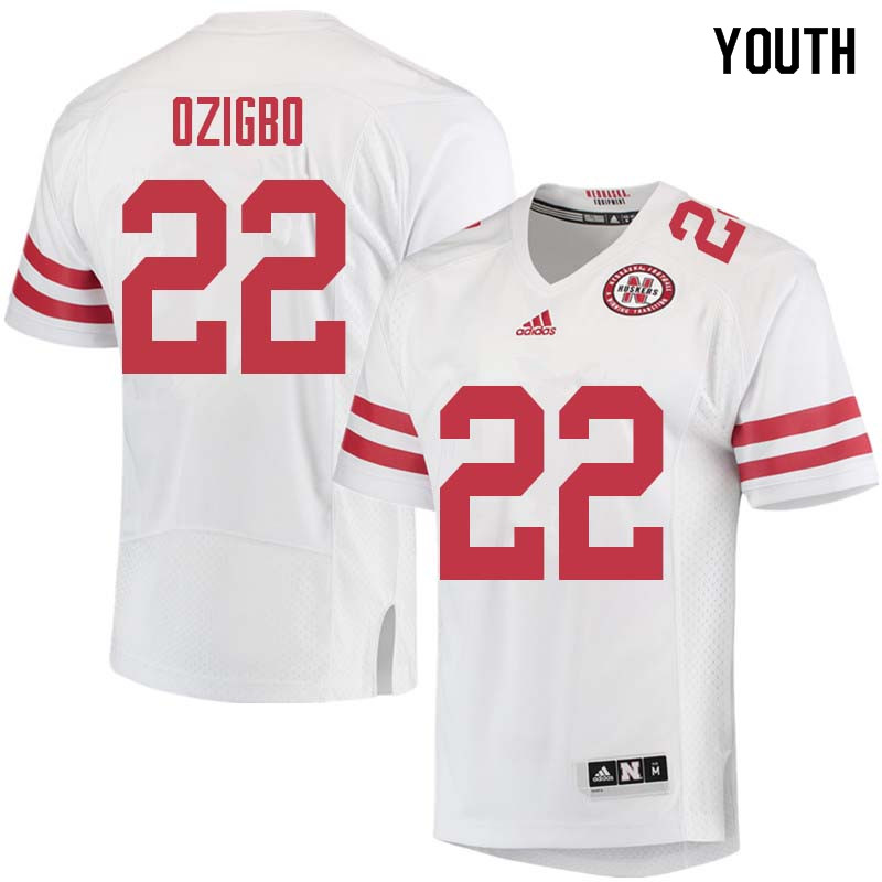 Youth #22 Devine Ozigbo Nebraska Cornhuskers College Football Jerseys Sale-White