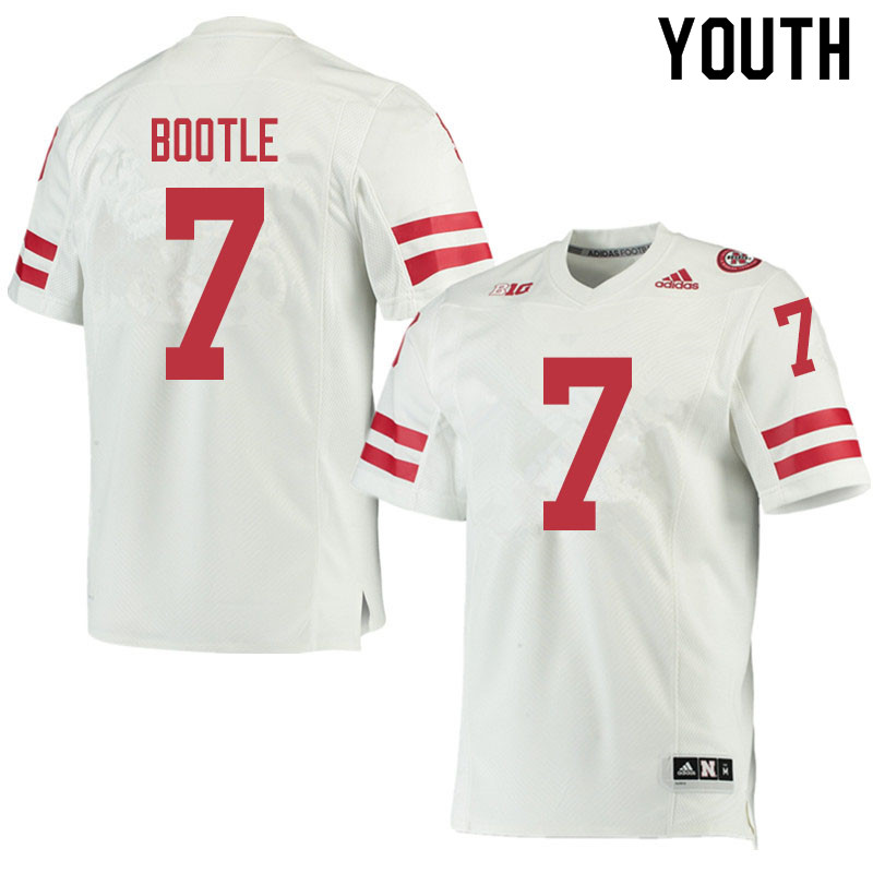 Youth #7 Dicaprio Bootle Nebraska Cornhuskers College Football Jerseys Sale-White