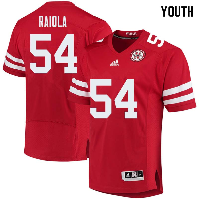 Youth #54 Dominic Raiola Nebraska Cornhuskers College Football Jerseys Sale-Red