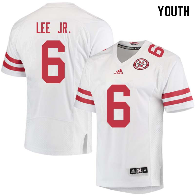 Youth #6 Eric Lee Jr. Nebraska Cornhuskers College Football Jerseys Sale-White
