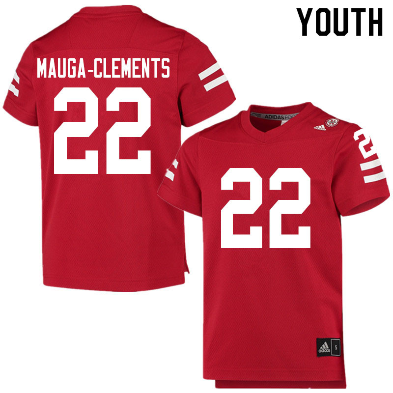 Youth #22 Eteva Mauga-Clements Nebraska Cornhuskers College Football Jerseys Sale-Scarlet