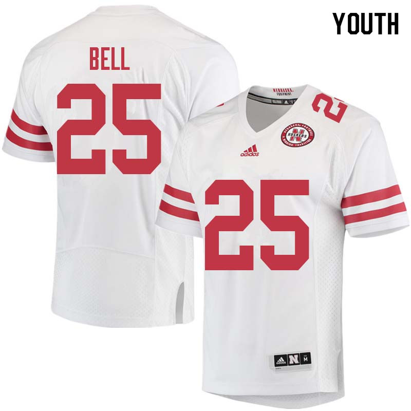 Youth #25 Greg Bell Nebraska Cornhuskers College Football Jerseys Sale-White