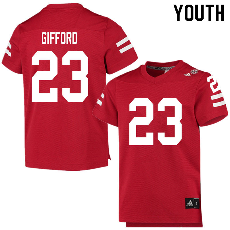 Youth #23 Isaac Gifford Nebraska Cornhuskers College Football Jerseys Sale-Scarlet