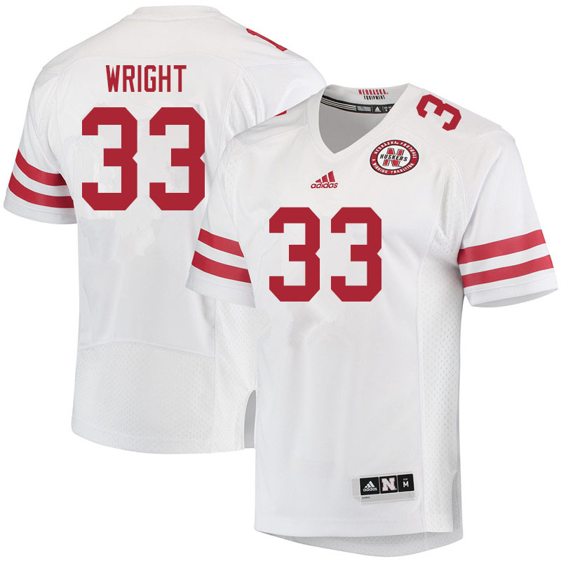 Youth #33 Javin Wright Nebraska Cornhuskers College Football Jerseys Sale-White