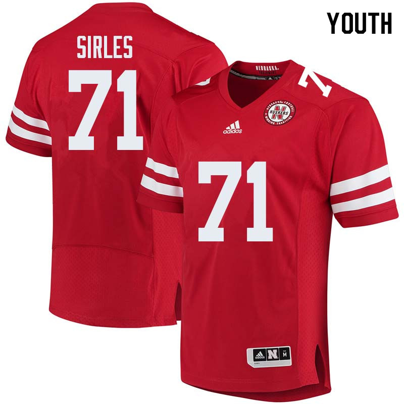 Youth #71 Jeremiah Sirles Nebraska Cornhuskers College Football Jerseys Sale-Red