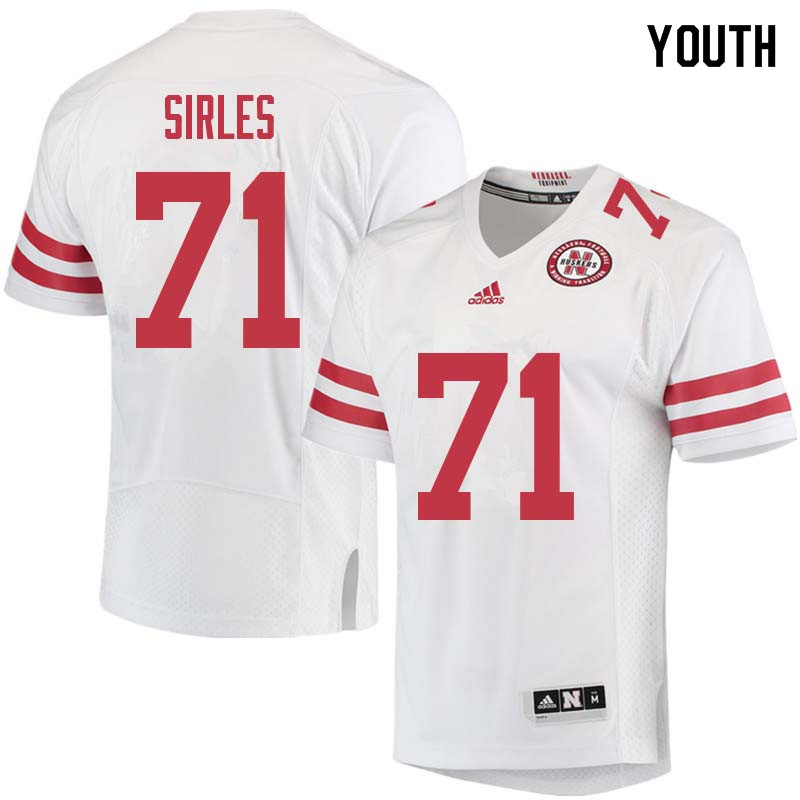 Youth #71 Jeremiah Sirles Nebraska Cornhuskers College Football Jerseys Sale-White