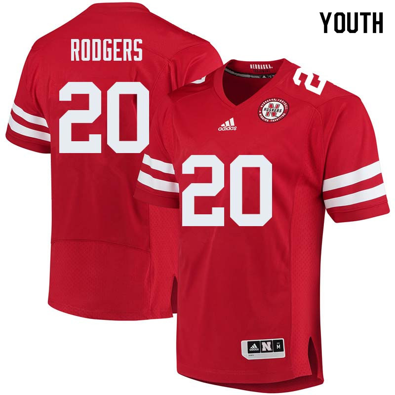 Youth #20 Johnny Rodgers Nebraska Cornhuskers College Football Jerseys Sale-Red