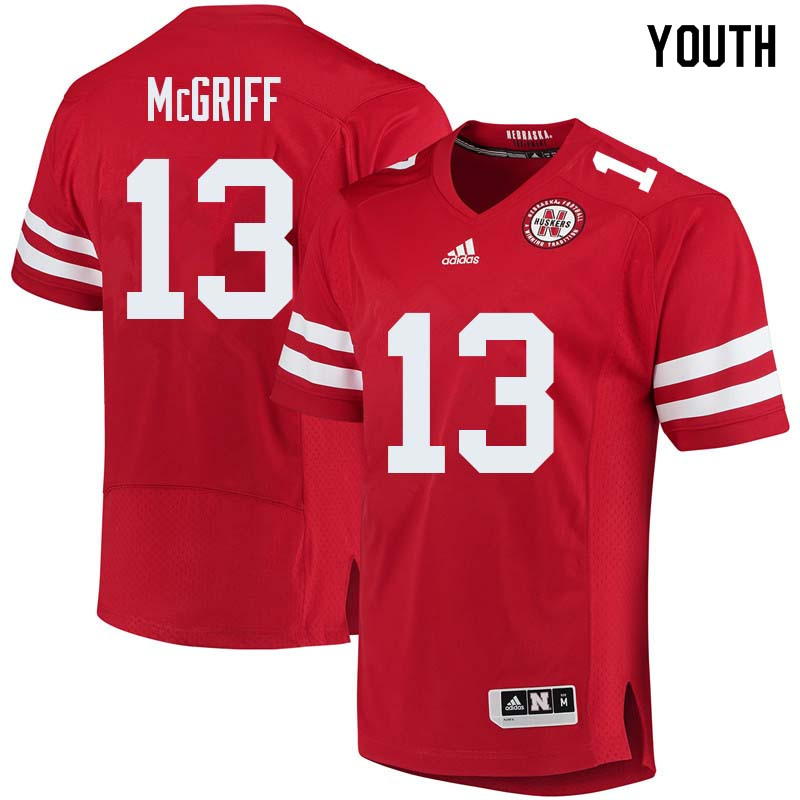 Youth #13 Justin McGriff Nebraska Cornhuskers College Football Jerseys Sale-Red