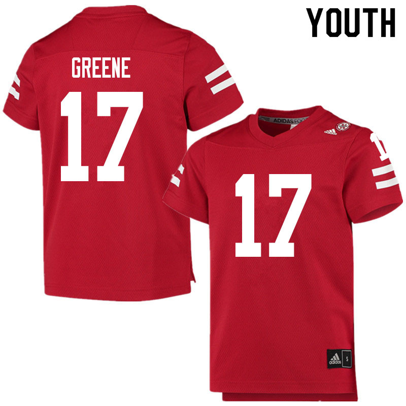 Youth #17 Keyshawn Greene Nebraska Cornhuskers College Football Jerseys Sale-Scarlet