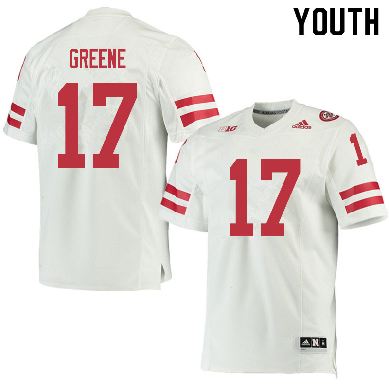 Youth #17 Keyshawn Greene Nebraska Cornhuskers College Football Jerseys Sale-White
