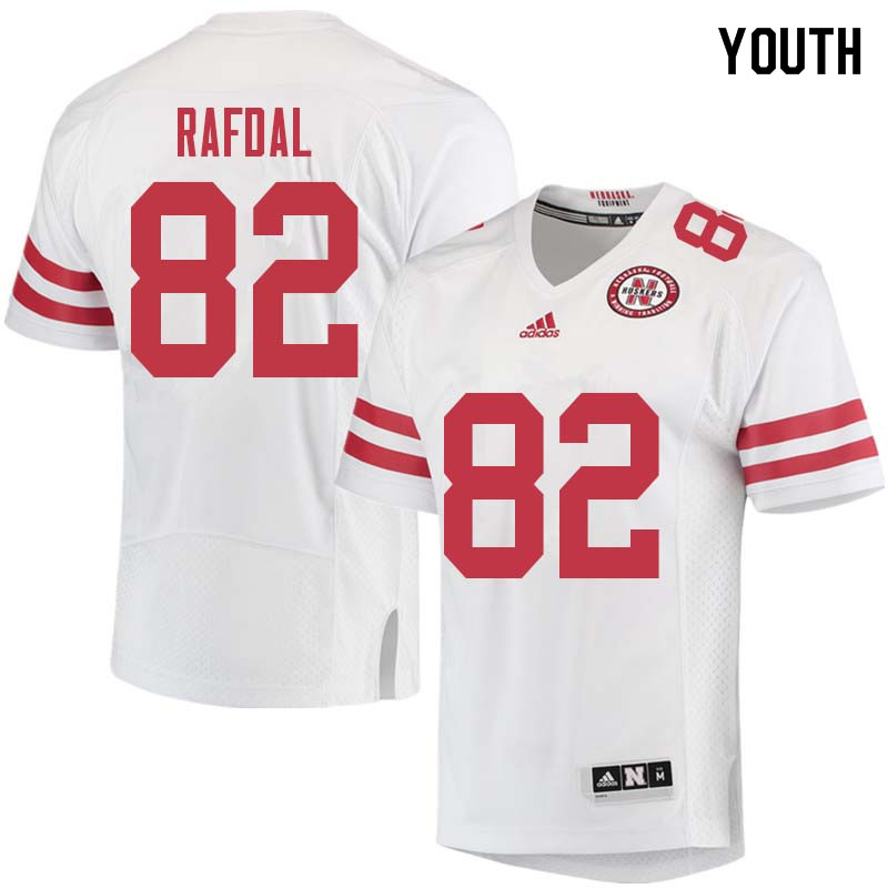 Youth #82 Kurt Rafdal Nebraska Cornhuskers College Football Jerseys Sale-White