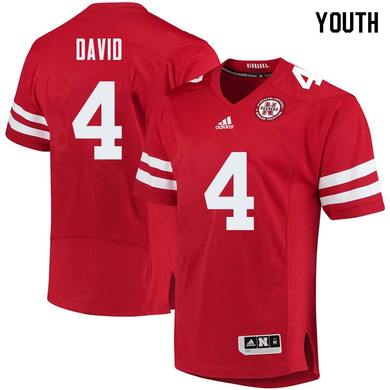 Youth #4 Lavonte David Nebraska Cornhuskers College Football Jerseys Sale-Red