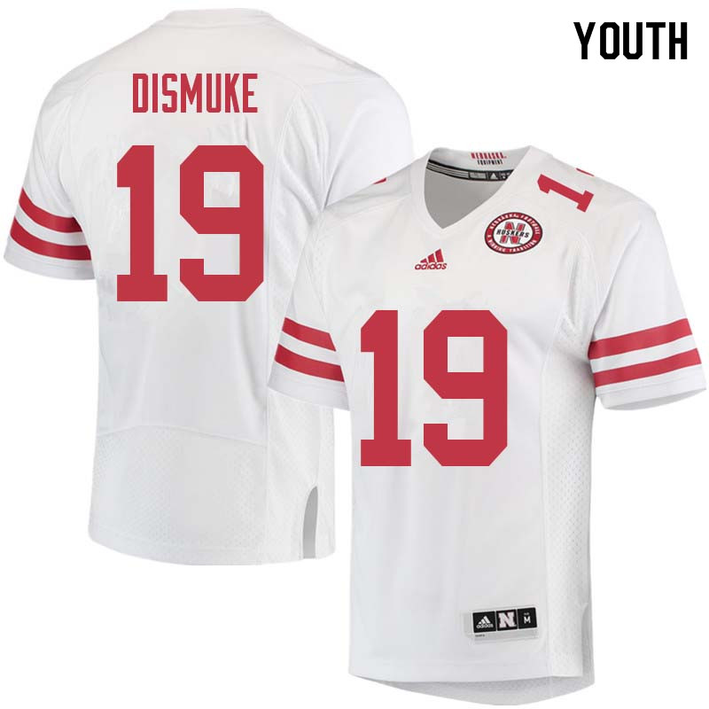 Youth #19 Marquel Dismuke Nebraska Cornhuskers College Football Jerseys Sale-White