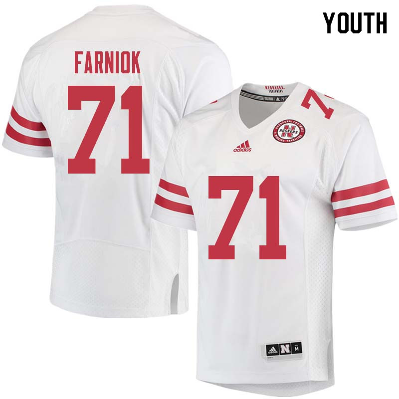 Youth #71 Matt Farniok Nebraska Cornhuskers College Football Jerseys Sale-White
