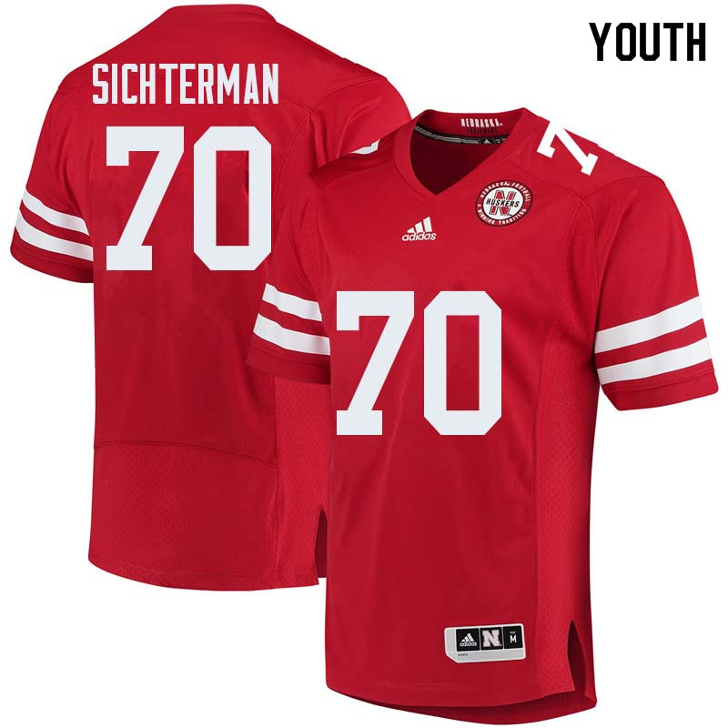 Youth #70 Matt Sichterman Nebraska Cornhuskers College Football Jerseys Sale-Red