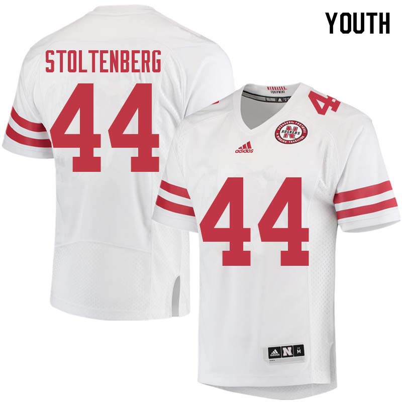 Youth #44 Mick Stoltenberg Nebraska Cornhuskers College Football Jerseys Sale-White