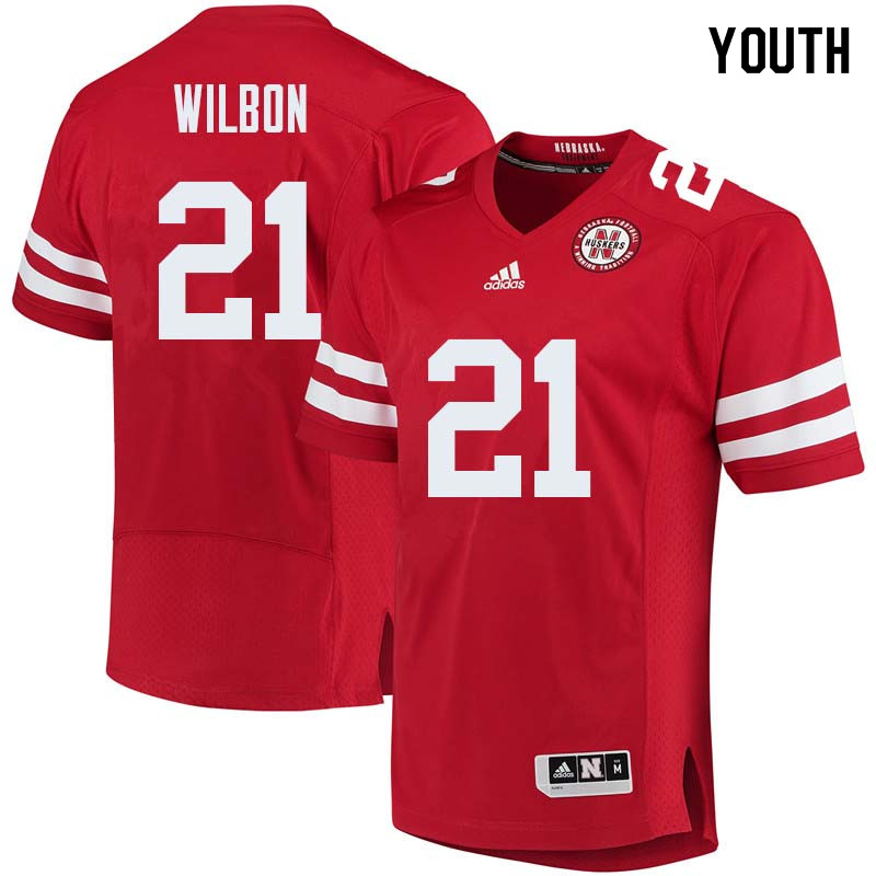 Youth #21 Mikale Wilbon Nebraska Cornhuskers College Football Jerseys Sale-Red