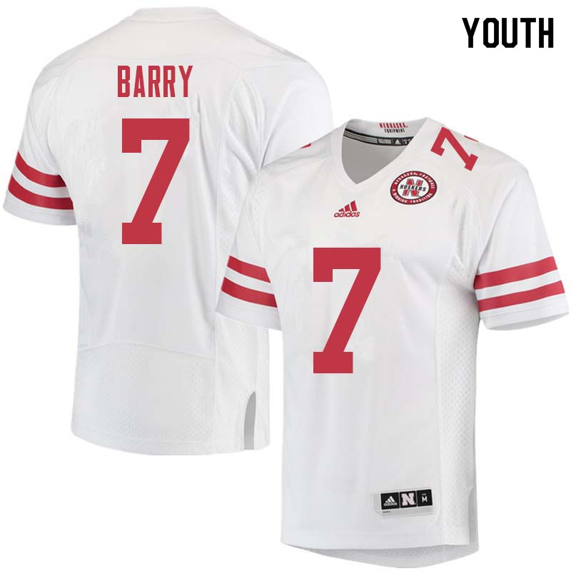 Youth #7 Mohamed Barry Nebraska Cornhuskers College Football Jerseys Sale-White