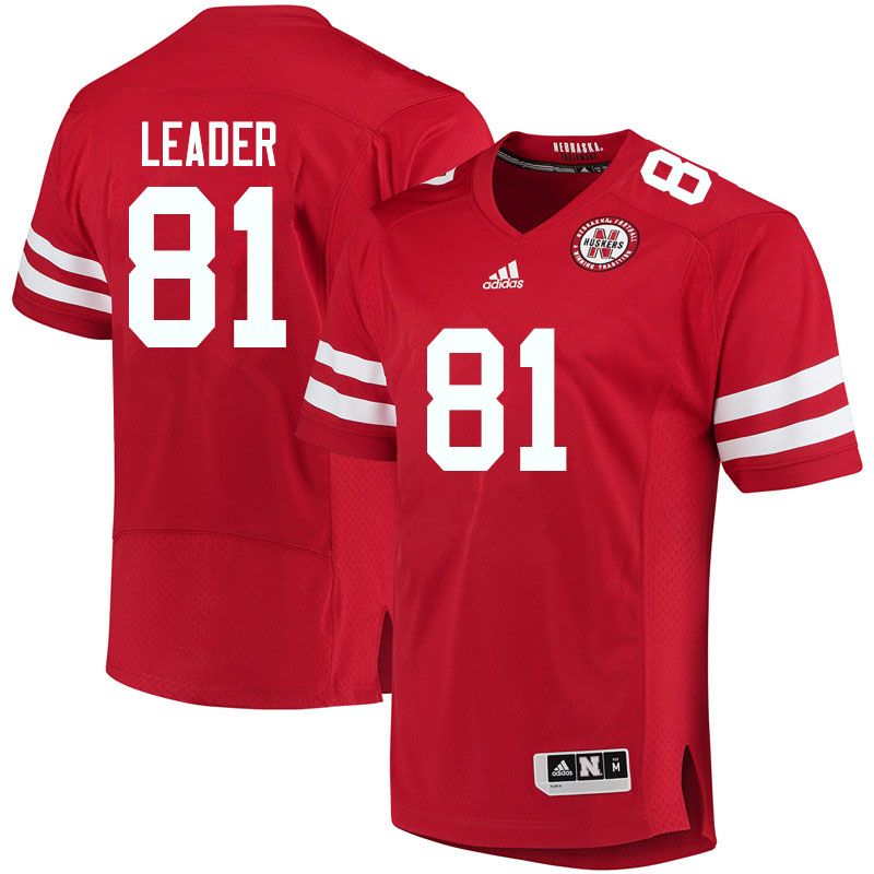 Youth #81 Nick Leader Nebraska Cornhuskers College Football Jerseys Sale-Red