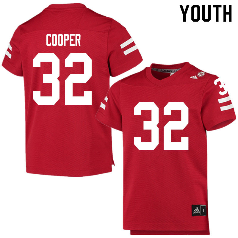 Youth #32 Niko Cooper Nebraska Cornhuskers College Football Jerseys Sale-Scarlet