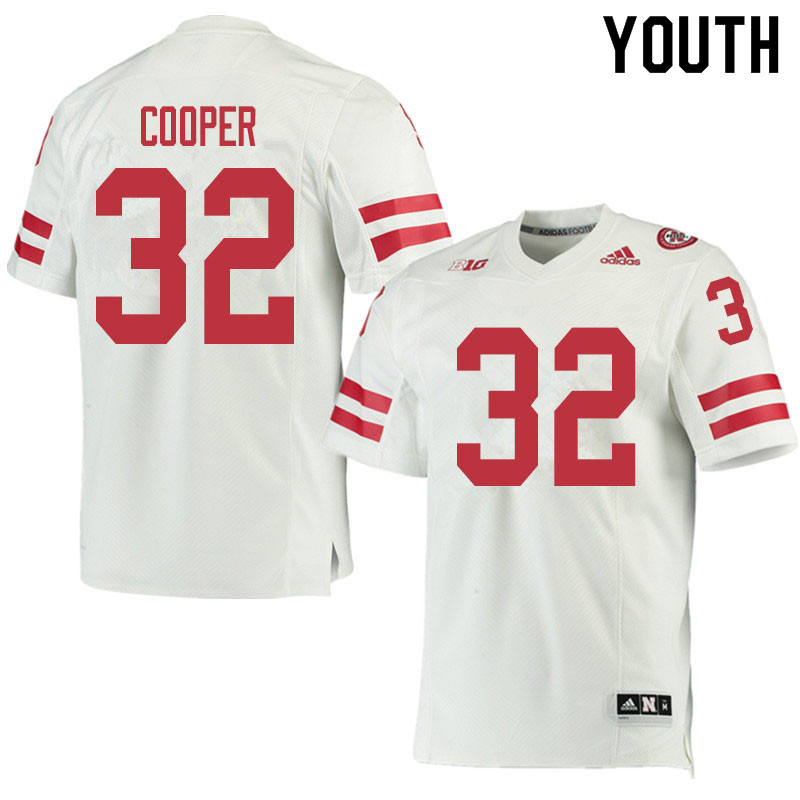 Youth #32 Niko Cooper Nebraska Cornhuskers College Football Jerseys Sale-White