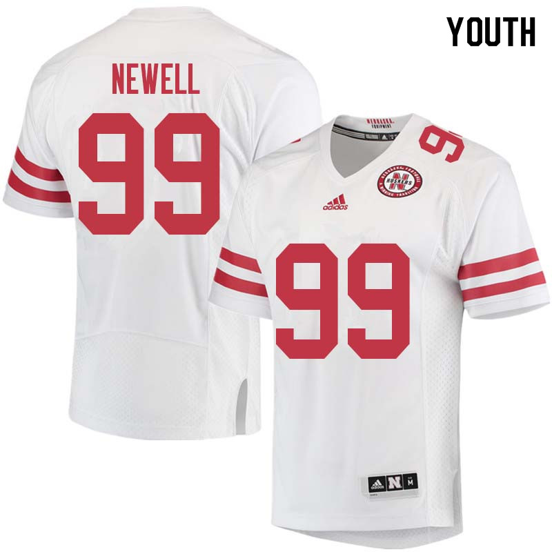 Youth #99 Peyton Newell Nebraska Cornhuskers College Football Jerseys Sale-White