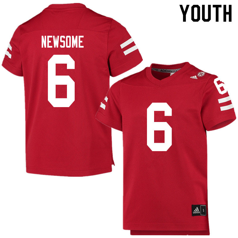 Youth #6 Quinton Newsome Nebraska Cornhuskers College Football Jerseys Sale-Scarlet
