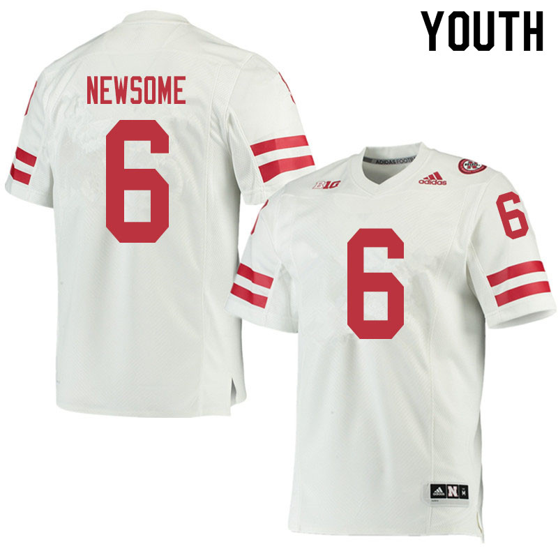 Youth #6 Quinton Newsome Nebraska Cornhuskers College Football Jerseys Sale-White