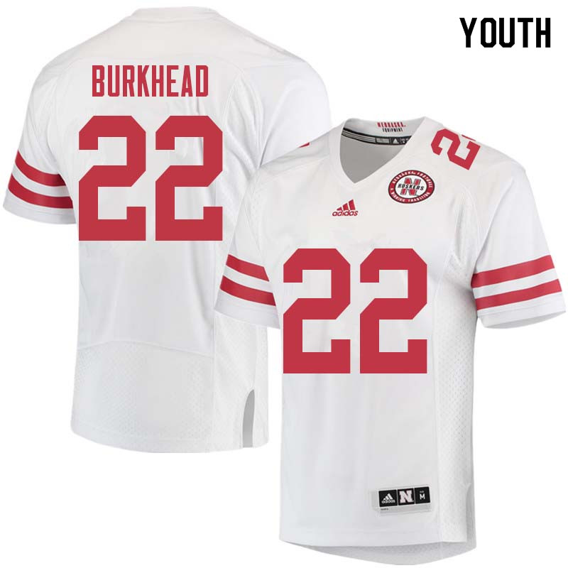 Youth #22 Rex Burkhead Nebraska Cornhuskers College Football Jerseys Sale-White