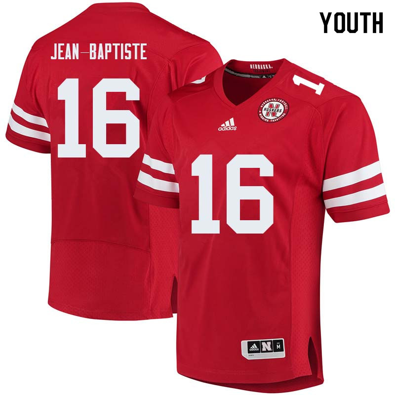 Youth #16 Stanley Jean-Baptiste Nebraska Cornhuskers College Football Jerseys Sale-Red