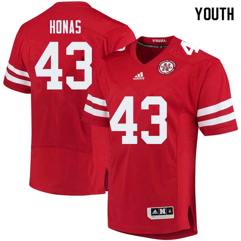 Youth #43 Todd Honas Nebraska Cornhuskers College Football Jerseys Sale-Red