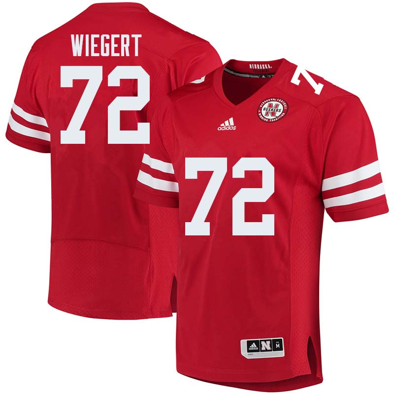 Men #72 Zach Wiegert Nebraska Cornhuskers College Football Jerseys Sale-Red