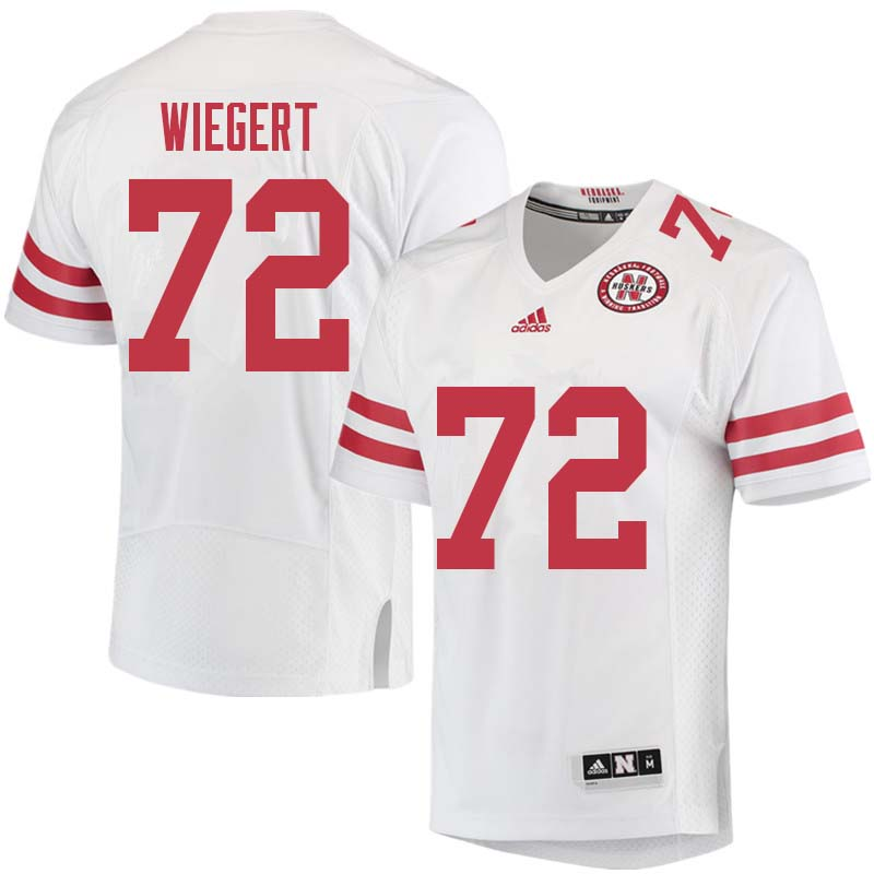 Men #72 Zach Wiegert Nebraska Cornhuskers College Football Jerseys Sale-White
